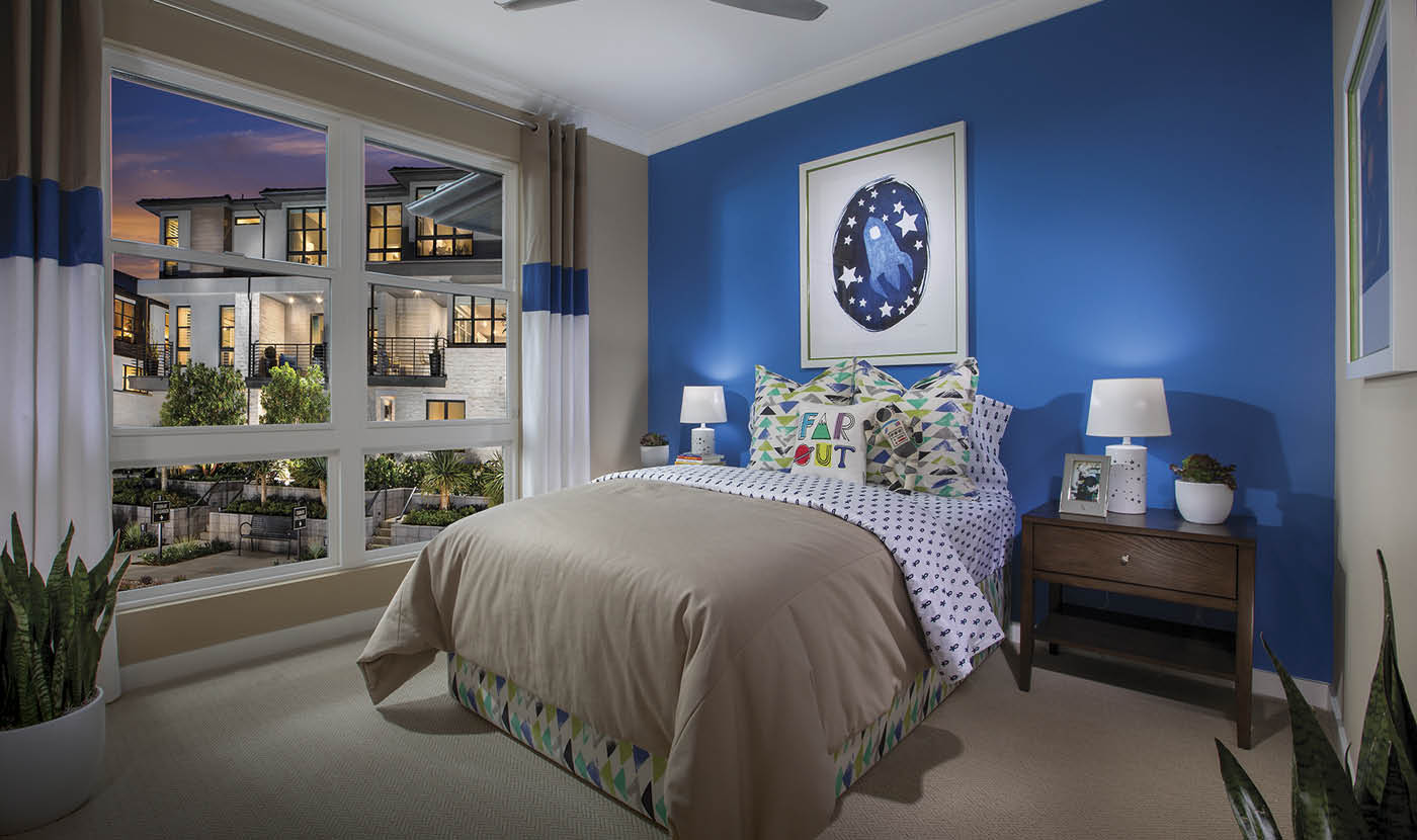 The Heights Plan 1 Model Home Guest Bedroom