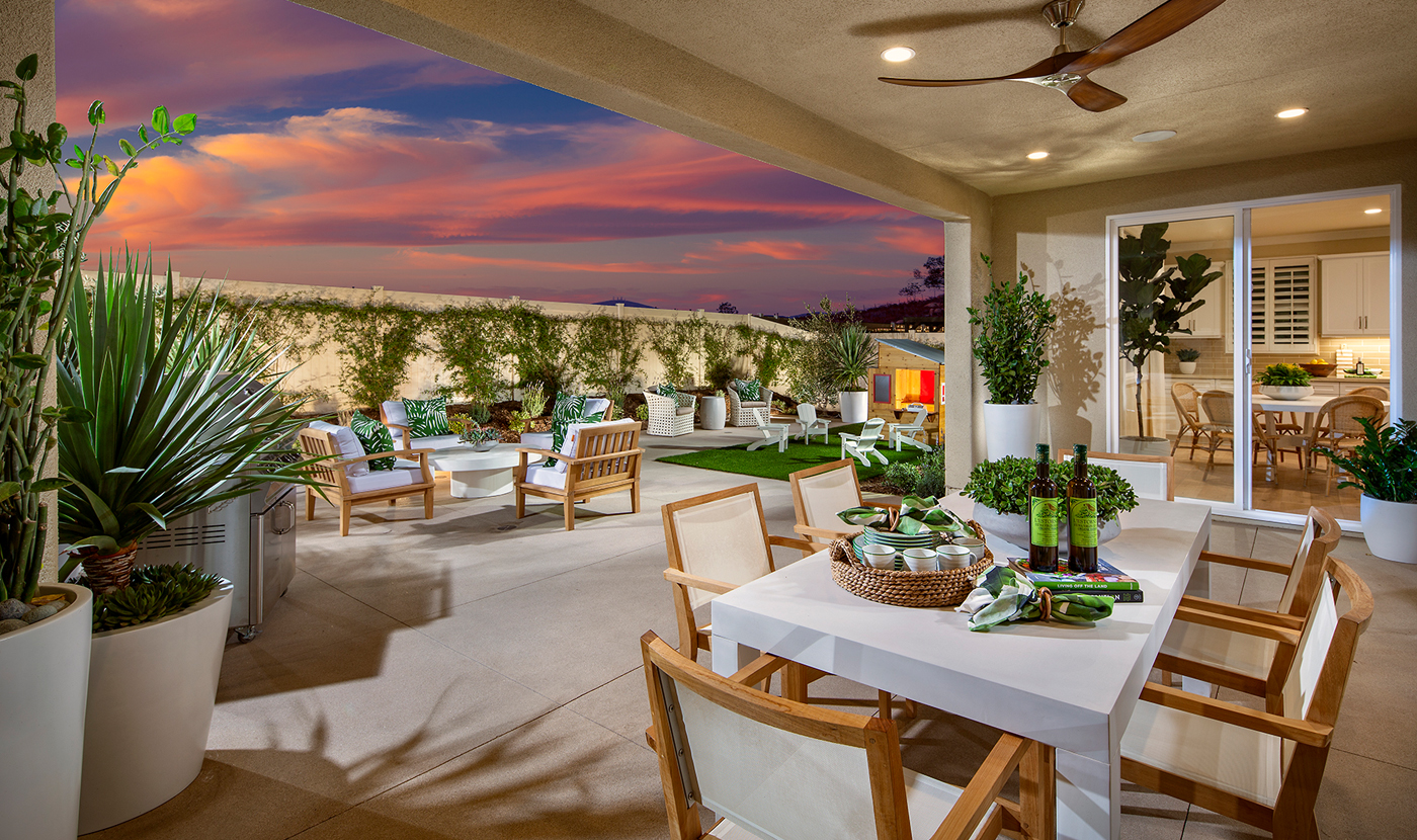 Plan 1 Model Home Outdoor Space