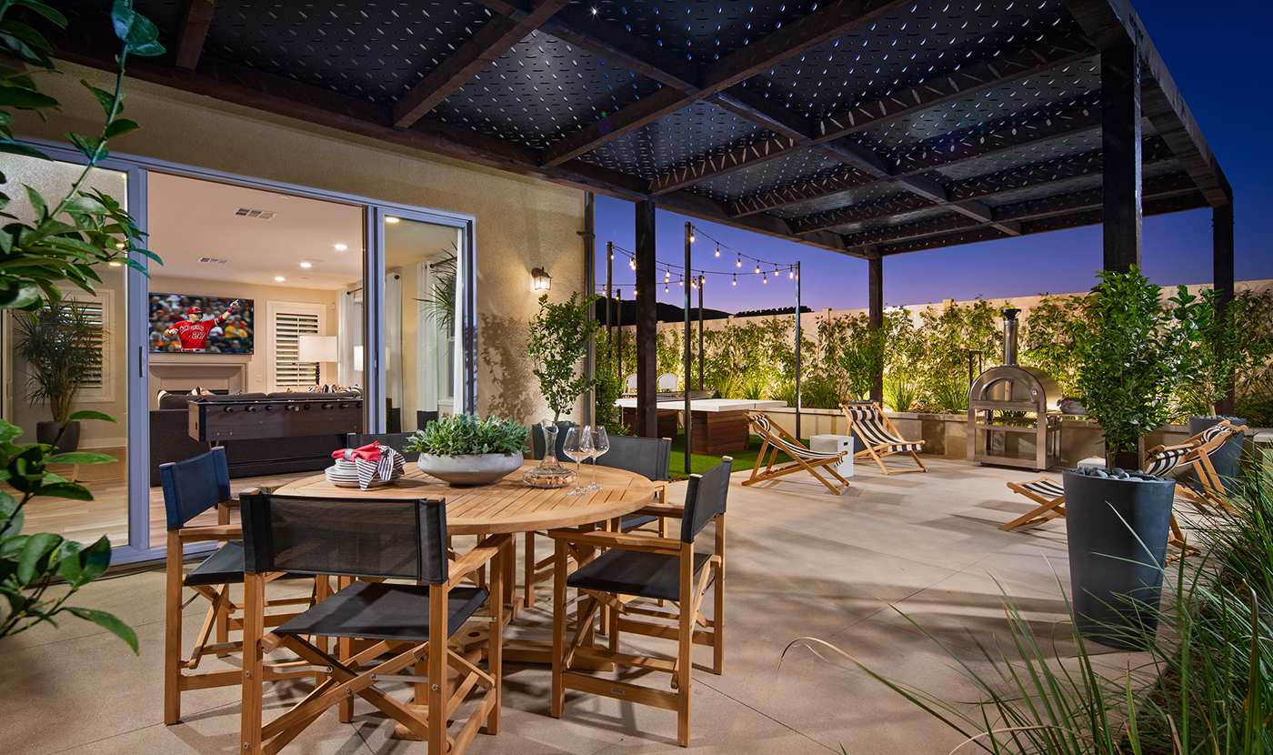 Plan 3 Model home outdoor space