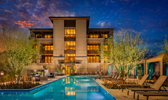ICON Silverleaf Pool & Building Exterior