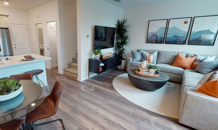 Plan 1 Model Home Living Room